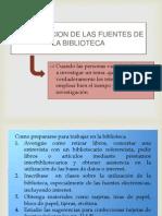 La Utilizacion de Las Fuentes de La Biblioteca