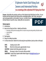 Flying Scot Fleet 44 meeting July 26, 2014