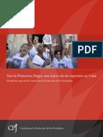 Tras la Primavera Negra, nueva ola de represión en Cuba. Informe