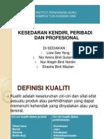 Kesedaran Kendiri, Peribadi Dan Professional