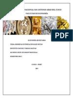 """Mplicancias de La Oferta Monetaria y La Inflaciã""""n en El Crecimiento Sostenible de Las Reservas Internacionales Netas en El Perãš en El Periodo 1990-2013"""