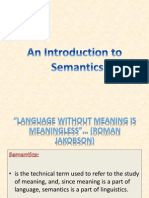 Intro to Semantics