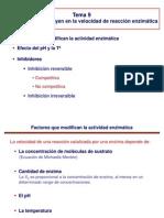 Tema 9 - Inhibicion Enzimatica Farmacia