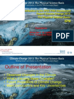 1. Update on the 5th Assessment Reports of the Intergovernmental Panel on Climate Change (IPCC)