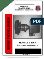 E2063 Teknologi Elektrik 2 UNIT0