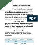 Introducción a Microsoft Excel #1