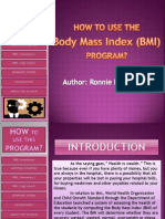 How to Use This Program - Bmi Soft Ware -Hnc