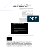 Instalación de Un Sistema Operativo Microsoft Windows Con Disquete de Inicio