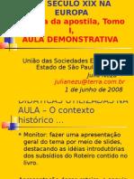 O CONTEXTO HISTÓRICO DO SÉCULO XIX NA EUROPA