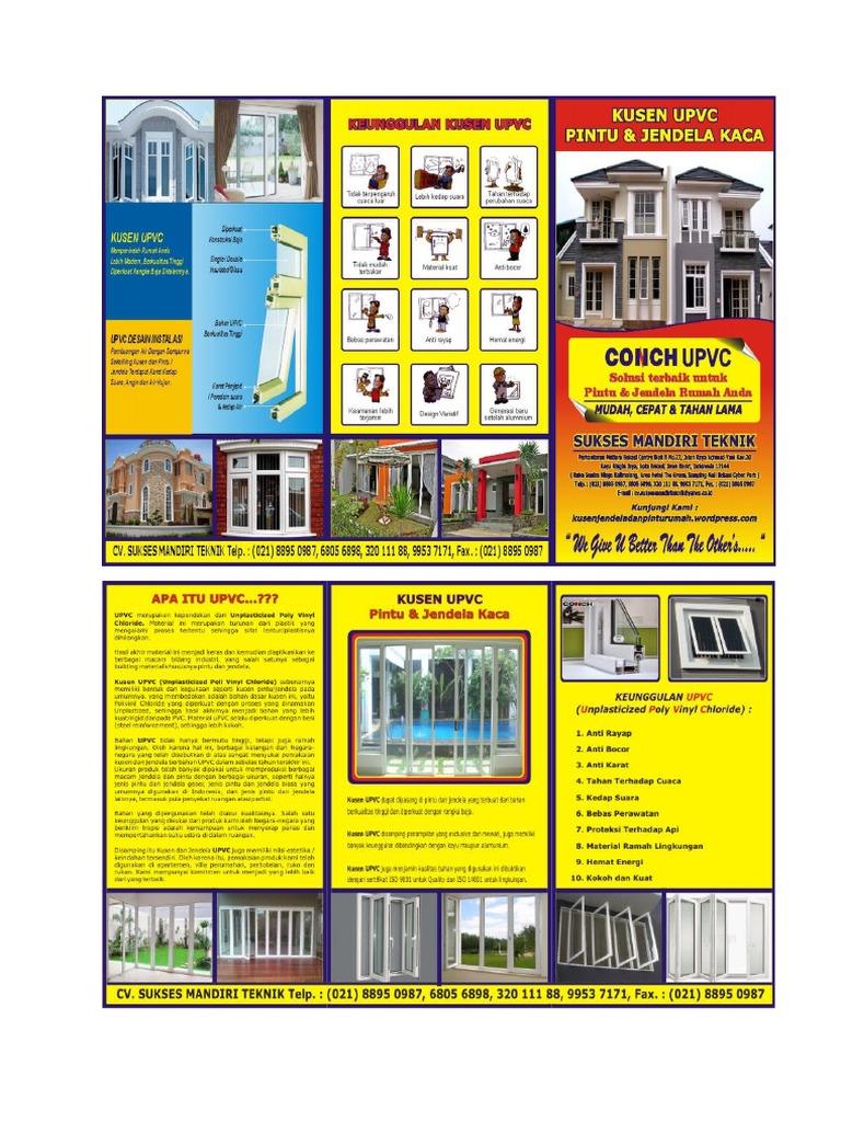 Kusen Pvc Upvc Pintu Jendela Rumah Minimalis Modern