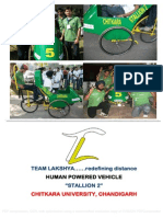 3. Team Lakshya's Stallion 2 Human Powered Vehicle for SAE's Efficycle 2010