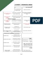 Financial Ratios - Formula Sheet