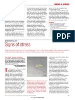 Nanotoxicology-signs of stress