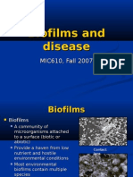 Biofilms and Disease