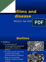 Biofilms and Disease