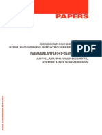 Papers Maulwurfsarbeit