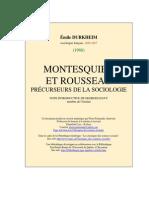 Montesquieu Et Rousseau