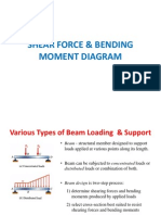 Shear Force & Bending Moment Diagram Lecture