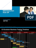 C3 Evolution E2E Execution Kick Off