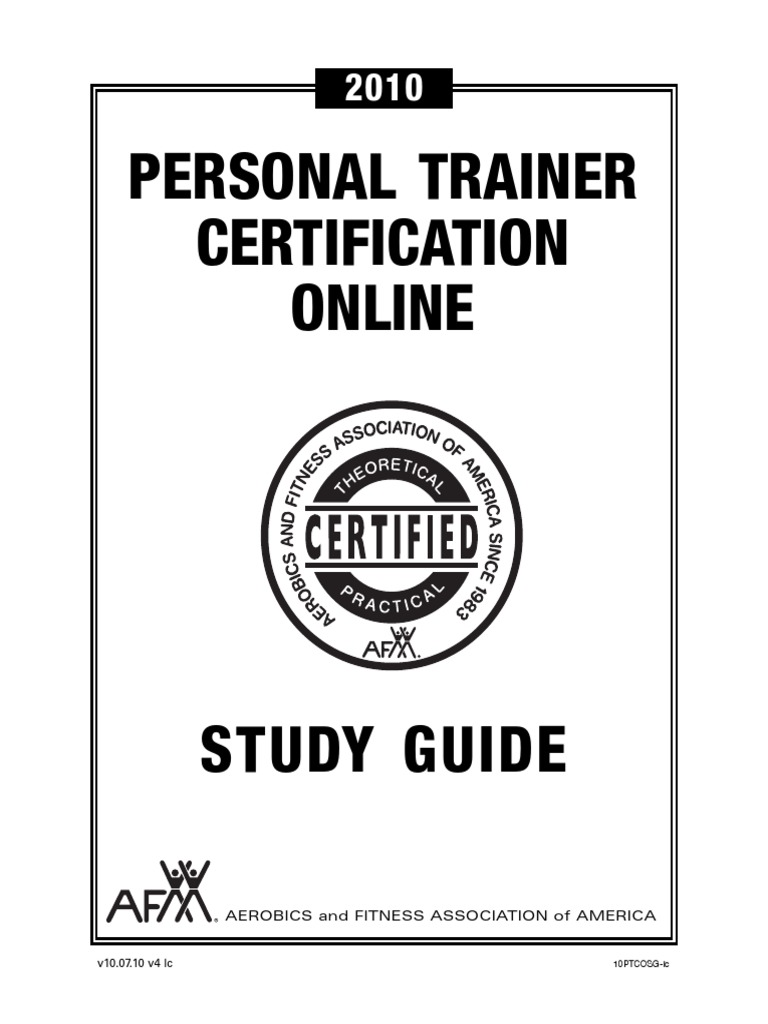Afaa Online Certification Personal Trainer Strength Training
