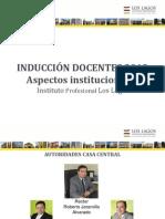 Presentacion Induccion Docentes 2013 Aspectos Institucionales