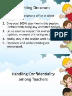 Handling Confidentiality Among Teachers