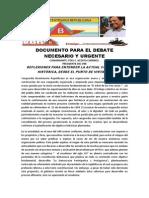 Documento Para El Debate Necesario y Urgente