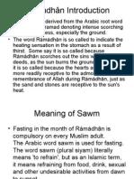 Presentation on Fasting