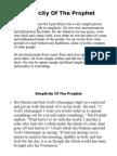 Simplicity of the Prophet