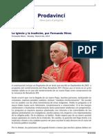 La Iglesia y La Tradicion Por Fernando Mires