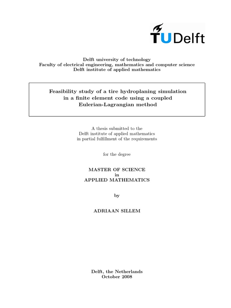 Master thesis for mechanical engineering