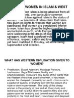 Status of Women in Islam & West