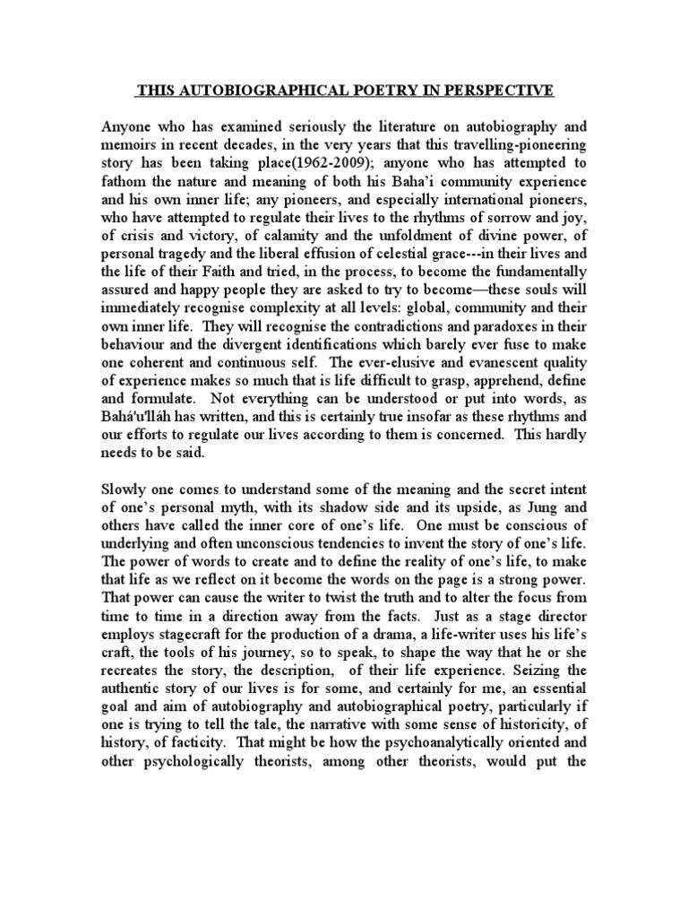 Dissertation on Autobiography blogger.com