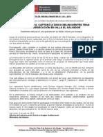 POLICÍA NACIONAL CAPTURÓ A CINCO DELINCUENTES TRAS FEROZ PERSECUCIÓN EN VILLA EL SALVADOR