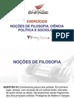 I207 Material Slides Exercicios Nocoes de Filosofia Ciencia Politica e Sociologia