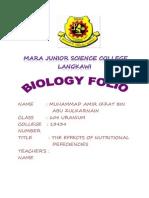 Biology Folio 1