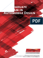 Pg Program in Automobile Design