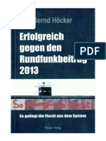 Bernd Hoecker -Erfolgreich Gegen Den Rundfunkbeitrag 2013
