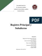 Trabajo Registral Registro Principal