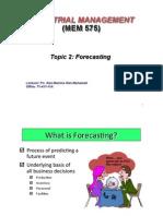 Topic2 Forecasting