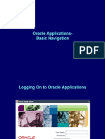 Oracle Apps- Basic Navigation