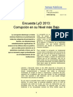 Encuesta Corrupcion Lyd 2013
