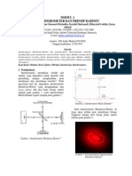 [Modul 1 Interferometer Dan Prinsip Babinet]Hanley Andrean 10211044