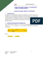 Lectura 01 - La Distribución Normal General. La Distribución (i Unidad) (11 h)