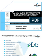 PLC and SONET-SDH networks bridging with ethernet