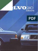 Volvo 244 1984 UK Brochure