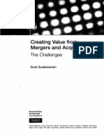 Creating Value From Mergers and Acquisitions - ToC