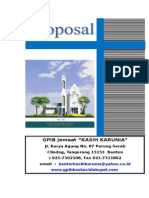 Proposal Panitia Pembangunan Gedung Gereja GPIB Kasih Karunia