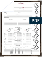 Player Aid - Character Sheet (Printer Friendly)