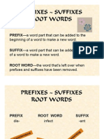 Ppt v Prefixes Suffixes Root Words